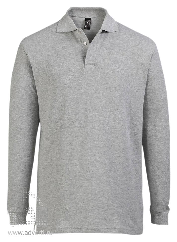6a5790999ba14 Рубашка поло с длинным рукавом «Star 170», мужская - с логотипом ...
