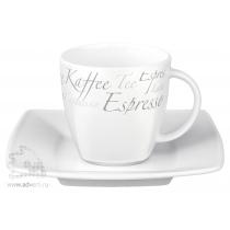 Кофейная пара «Maxim Espresso Set», чашка+блюдце, фарфор