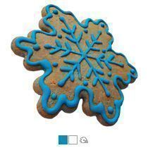 Имбирный пряник «Снежинка шестиугольная с росписью в один цвет»