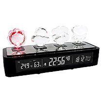 Погодная станция «Гольфстрим»: часы с будильником, дата, термометр, барометр, гигрометр с подсветкой