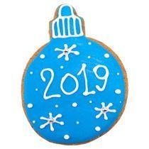 Имбирный пряник «Шар новогодний»