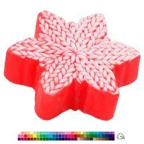 Мыло «Вязаная снежинка двухцветная»