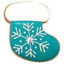 Имбирный пряник «Сапожок расписной со снежинкой»
