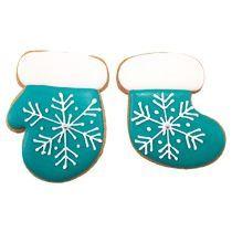 Новогодний набор имбирных пряников «Сапожок + Варежка» расписные со снежинкой
