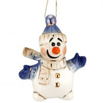 Фарфоровая елочная игрушка «Olaf»