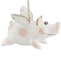 Фарфоровая елочная игрушка «Piggy Wingy»