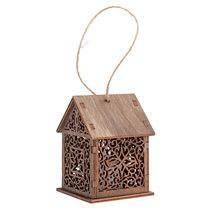 Светильник «Уютный домик», тонированный, с веревочкой