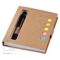 Набор стикеров «Reveal» с ручкой и блокнотом