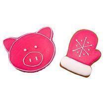 Новогодний набор имбирных пряников «Свинка №2 + Варежка малая»