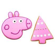 Новогодний набор имбирных пряников «Пеппа + Елка треугольная»