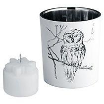 Подсвечник со свечой «Forest», с изображением совы