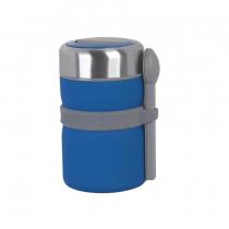 Термос с контейнерами и приборами для ланча, покрытие soft touch