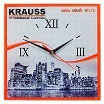 Часы стеклянные квадратные