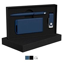 Набор ручка + флеш-карта 8/16 Гб + зарядное устройство 4000 mAh в футляре