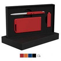 Набор ручка «Skil»+ флеш-карта «Case» 8 Гб + зарядное устройство «Theta» 4000 mAh в футляре