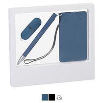 Подарочный набор «Камень», покрытие soft grip,на 3 предмета, в белом футляре