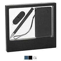 Подарочный набор «Камень», покрытие soft grip,на 3 предмета, в черном футляре
