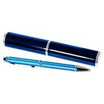 Набор «iP2», голубой: шариковая ручка в тубусе