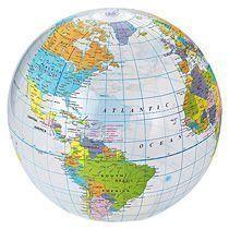 Мяч надувной пляжный «Globe»