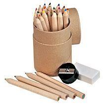 Набор из 24 цветных карандашей с точилкой и ластиком