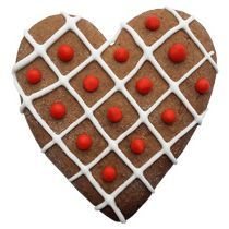 Имбирный пряник «Сердечко вафельное с декором»