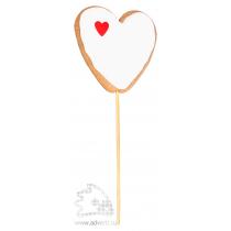 Имбирный пряник «Сердечко на палочке заливное с декором»