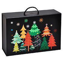 Коробка подарочная «Зимняя ночь» складная, с ручкой