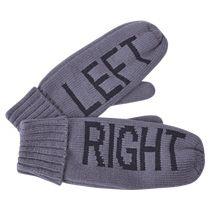Рукавицы мужские «Left&Right» с теплой подкладкой, серые
