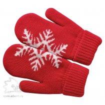 Варежки «Сложи снежинку!» с теплой подкладкой