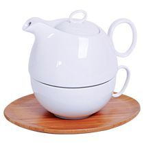 Набор «Мила»: чайник и чайная пара в подарочной упаковке