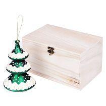 Игрушка елочная ручной работы «Елка» в деревянной коробке