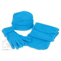 Флисовый набор «Metel»: шапка, шарф, перчатки