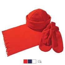 Комплект «Unit Fleecy»: шарф, шапка, варежки