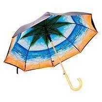 Зонт «Рай под пальмами», полуавтомат