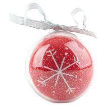 Новогодний шар со снежинкой в футляре