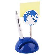Подставка под визитки «Глобус», синяя