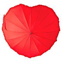 Зонт-трость «Сердце», полуавтоматический