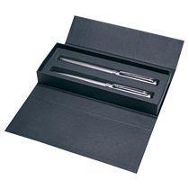 Набор «Delgado Steel Set»: роллер и шариковая ручка, серебристые