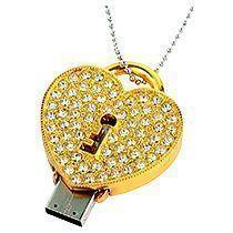 Флеш-карта USB 2.0 на 8 Gb «Алмазное сердце»