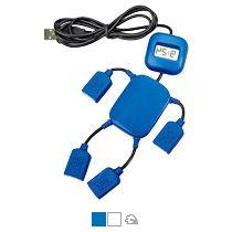 USB-разветвитель на 4 порта с часами в виде человечка