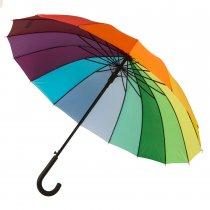 Зонт-трость «Радуга», 16 разноцветных клиньев
