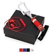 Подарочный набор «Selfie» с Bluetooth наушниками и моноподом