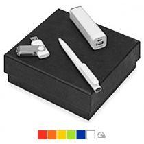 Подарочный набор «On-the-go» с флешкой, ручкой и зарядным устройством