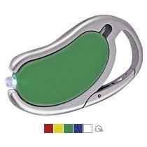 Брелок-карабин с авторучкой и фонариком