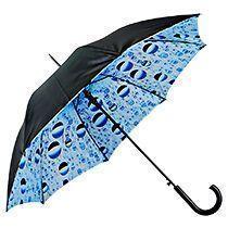 Зонт-трость с двухслойным куполом «Капли воды», полуавтомат