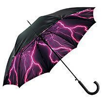 Зонт-трость с двухслойным куполом «Молния», полуавтомат
