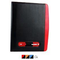 Офисная папка А4 с цветными вставками с блокнотом и калькулятором