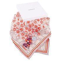 Набор: брелок, платок шелковый