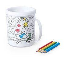 Кружка для раскрашивания с цветными карандашами «FESIENT»