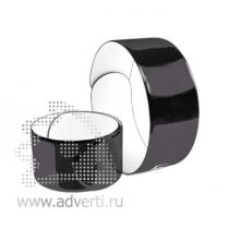 Силиконовый слэп-браслет, светоотражающий
